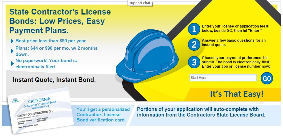State Contractor's License Bonds